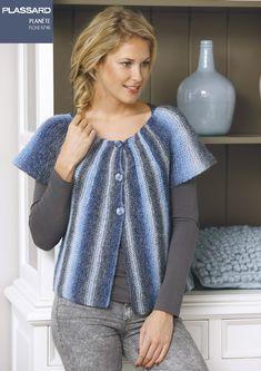 Les Modèles tricot et fiches tricot gratuit à télécharger Plassard. First Communion, Crochet Clothes, Couture, Fabric, Collection, Knitting Sweaters, Point, Cardigans, Vintage