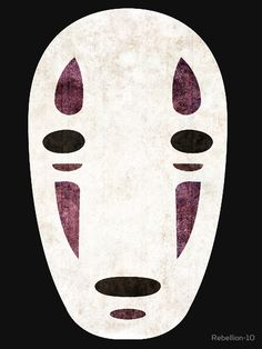 The mask of No-Face from the famous anime: Spirited Away.