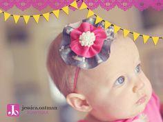 Camo hair bow, ACU hair bow, military hair bow, Army hair bow, camo headband, newborn headband