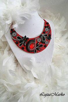 LujzaMarko / Fantasy in red náhrdelník