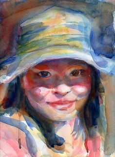 Another great watercolor portrait artist on Red Bubble, Yevgenia Watts