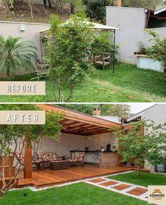 Backyard Patio Designs, Backyard Landscaping, Backyard Ideas, Backyard Renovations, Outdoor Living, Outdoor Decor, Terrace Garden, Back Gardens, Landscape Design
