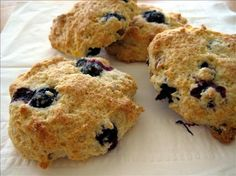 Low-Fat Blueberry Scones (Using Heart Healthy Bisquick Mix)