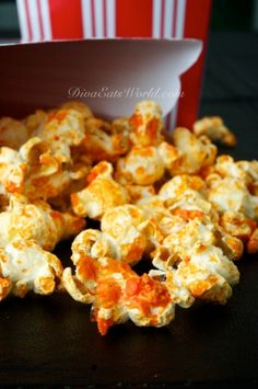 Siracha popcorn - would melt the butter and add the Siracha in the pot - swirl and then add the kernels to pop!