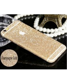 Luxury Bling Full Body Decal Glitter Back Film Sticker Case Cover For iPhone 6 47 Free shipping