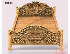 Wood Bed Design, Wooden Main Door Design, Sofa Design, Wood Carving Designs, Wood Carving Art, King Size Bed Designs, Temple Design For Home, Wood Beds, Bed Plans