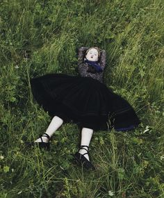 lying  on the grass
