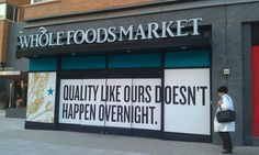 coming soon... Whole Foods Window Graphics