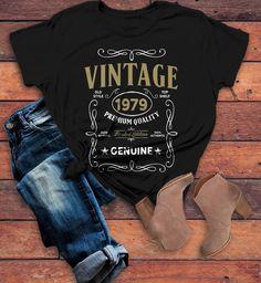 9181a69f8 Women's Vintage 1979 40th Birthday T-Shirt Classic Forty Shirt Gift Idea  40th Birthday Shirts Vintage Tee Vintage Shirt