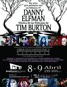 Danny Elfman traerá por primera vez a México el concierto 'Música de las películas de Tim Burton', el cual se presentará el 8 y 9 de abril en el Auditorio Nacional.