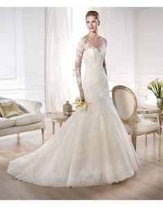 Kyrka Vår 2014 Bateau/Båtringning Bröllopsklänningar 2014