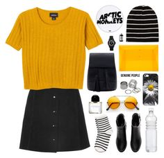 """""""mustard kisses"""" by jesicacecillia ❤ liked on Polyvore featuring Monki, Casetify, 202 Factory, Marc by Marc Jacobs, Sort of Coal, Pieces, H&M, Byredo and Genuine_People"""