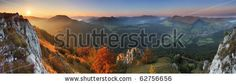 Fall in Slovakia mountain Fatras - stock photo