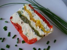 Terrine de poivrons au chèvre Vegetarian Recipes, Snack Recipes, Healthy Food Alternatives, Cuisine Diverse, French Food, Cooking Tips, Sushi, Healthy Snacks, Appetizers