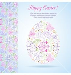 Easter egg made of flowers vector by lieslia on VectorStock®