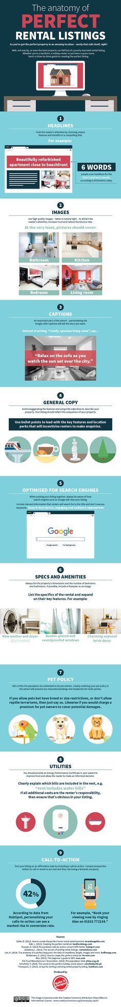 Renting a place can be a difficult process. But, if you start the process with the perfect listing you'll be closer to your goal. Discover how to create perfect rental listing in this helpful infographic from Make It Cheaper. Rental Listings, Rental Property, Places To Rent, Residential Real Estate, The More You Know, Data Visualization, Property Management, Being A Landlord, Anatomy