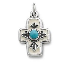 Enamel Floral Mission Cross with Turquoise at James Avery I think this is the one
