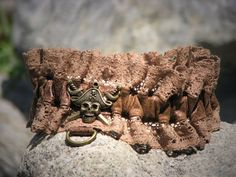 Pirate Wench Steampunk Faux Leather and Lace Garter by CurvyWench, $17.00