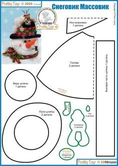 Possible pattern for making a Doozer? has potential Diy Christmas Ornaments, Felt Christmas, Felt Ornaments, Christmas Snowman, All Things Christmas, Christmas Sewing, Christmas Projects, Snowman Crafts, Felt Crafts