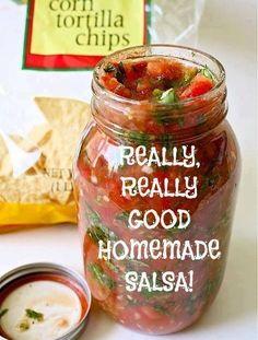 4HealthyRecipes.com |   Really Really Good Homemade Salsa
