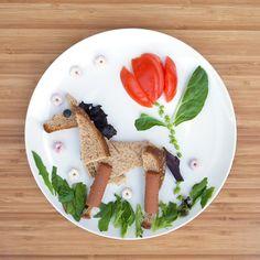 Trotting toward snack time! #SuperPuffs #MightySticks #FoodArt #PlumOrganics