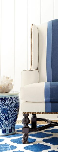 Custom Indoor Chair Cushions – Finding the Best Chairs My Living Room, Living Room Chairs, Dining Room, Design Café, Dining Chair Cushions, Interior Decorating, Interior Design, Blue Rooms, Take A Seat