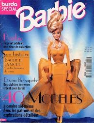 Free Barbie Clothes Patterns - click on the cover; it will take you through the entire book; in another language but has patterns; advanced sewers.