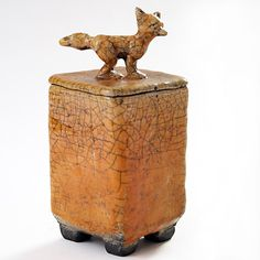Anne Junsjo click the image or link for more info. Ceramic Boxes, Ceramic Jars, Ceramic Pottery, Pottery Animals, Ceramic Animals, Desiderata, Clay Box, Conservation, Pottery Sculpture