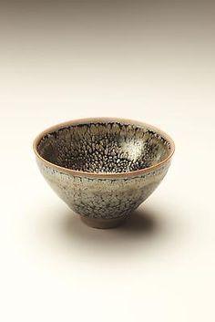 Sake cup with oil-spot temmoku glaze, 2011  Temmoku glazed stoneware   1 7/8 x 3 inches