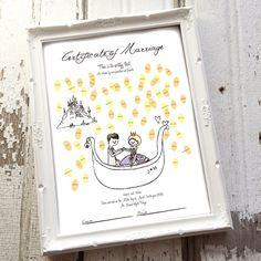 【ウエディングボード(結婚証明書)】DesignA   HATTI Wedding Shop