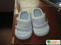 Easy Crochet shoes for boys Booties Crochet, Crochet Baby Shoes, Crochet Slippers, Baby Booties, Crochet Clothes, Easy Crochet, Knit Crochet, Baby Shoes Pattern, Baby Slippers