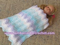 Free Crochet Patterns to Print | 18″ Doll Blanket Free Crochet Pattern | Ambassador Crochet