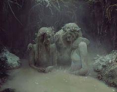 "This is a fantastic list. ""Graveyard Girls"" was a haunting collaboration between Kyle Thompson and Marissa Bolen. Art Om, Dark Fantasy, Fantasy Art, Kyle Thompson, Graveyard Girl, Pics Art, Macabre, Character Inspiration, Daily Inspiration"