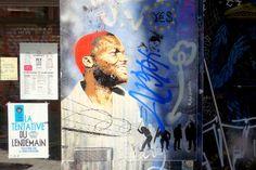 Sunday Street Art : Happy Fingers - rue Dénoyez - Paris 20  http://www.parisladouce.com/2017/07/sunday-street-art-happy-fingers-rue.html