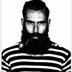 I do not think that there has ever been a better combination of beard and tattoos than Ricki Hall. Beards And Mustaches, Great Beards, Awesome Beards, Ricki Hall, Beard Lover, Beard No Mustache, Beard Oil, Mode Style, Moda Masculina