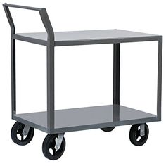 AkroMils R1S8MR23048 8 MoldOn Rubber 2Shelf Cart with Swayback Handle 30 x 48 Gray >>> To view further for this item, visit the image link.