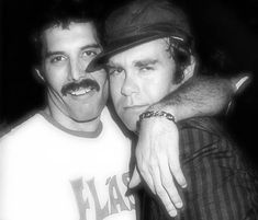 Freddie Mercury & Elton John 1981. My 2 all time favorites! My heart tickles every time I see this picture.
