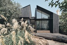 Split House - FMD Architects Melbourne House, Wood Siding, Wood Facade, Open Plan Living, Interiores Design, Interior Architecture, Residential Architecture, House Design, Duplex Design
