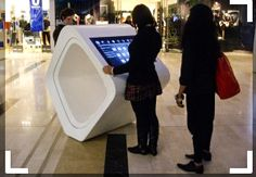 Stand Alone Shopping mall double screen PC touch kiosk for Interactive Experiences| LCD Digital Signage
