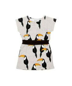 Leuk jurkje, toffe stof   Mini rodini tucan dress