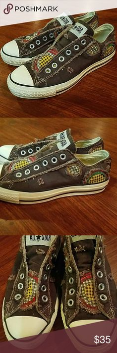 RARE Converse patchwork All star shoes size 7 Barely used Converse Shoes Sneakers