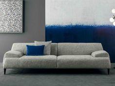 canapé moderne droit en tissu gris chiné par Bonaldo Cave Sofa
