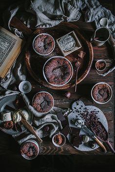 chocolate goat cheese souffle