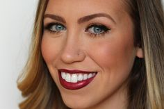 Bronze Eyes & Wine Lips | Holiday Makeup | #LivingAfterMidnite