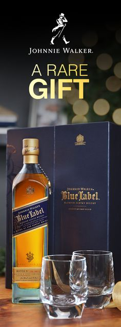 For that special whisky fan, give Johnnie Walker Blue Label. This holiday Gift Pack comes with a bottle of Blue Label and two luxury rocks glasses. It has everything they need to enjoy our rarest blend. With hints of hazelnuts, dried fruits, and smoke, Blue Label has an unparalleled depth of flavor. And, the stylish box means you can give it as is or easily wrap it with the paper of  your choosing.