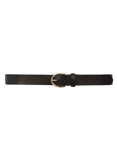 Womens Black Crescent Jeans Belt- Black