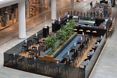 Austern + Cava + Bar + / + Essen + Gericht -food court ideas - Welcome Home Outdoor Restaurant Patio, Restaurant Floor Plan, Restaurant Seating, Kiosk Design, Cafe Design, Restaurant Interior Design, Cafe Interior, Food Court Design, Bar A Vin