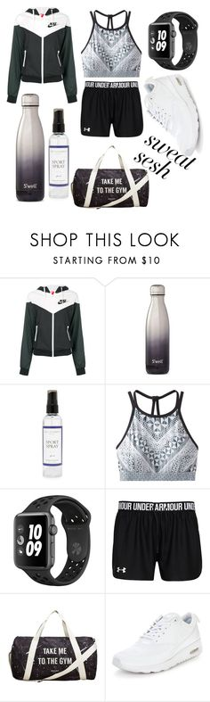 """sweating like crazy"" by jeonayla on Polyvore featuring NIKE, S'well, The Laundress, prAna and MANGO"