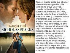Lo mejor de mi- Nicholas Sparks ✩✩✩✩