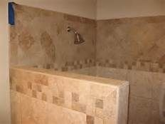 Shower Without Door shower stall without door with border tile and chair for simple